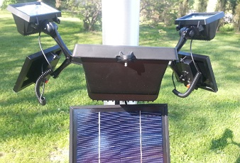 12 Led 420 Lux Commercial Solar Powered Up Light Fits